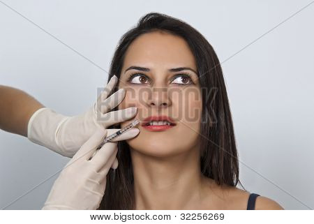 Cosmetic Injection In The Female Face