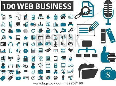 100 cute everyday web business signs. vector
