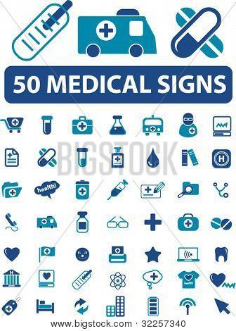 50 sinais médicos. vector
