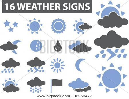 weather signs. vector