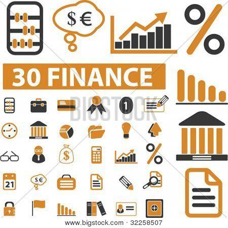 30 señales de finanzas. Vector
