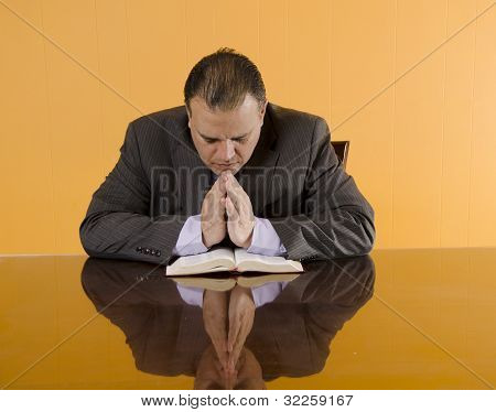 Protestant Business Man Praying