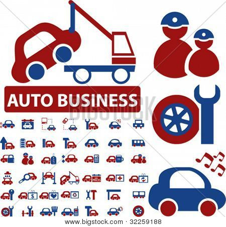 mega auto business signs. vector