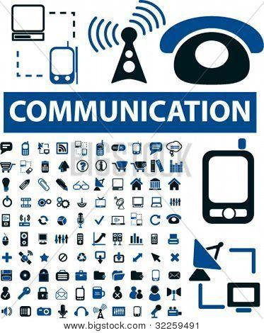 100 señales de comunicación. Vector