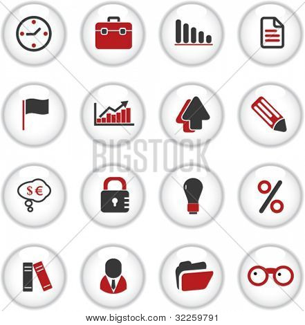 presentation business buttons. vector