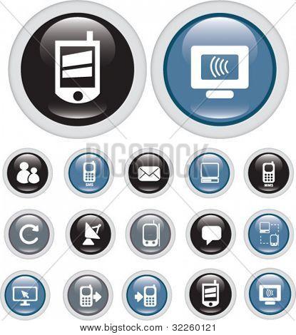 modern technology buttons. vector