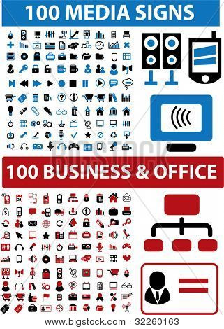200 media & business signs