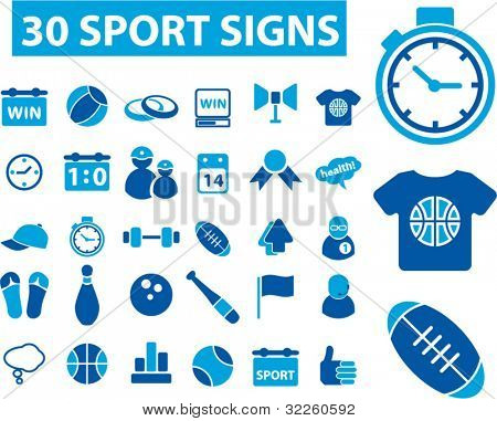30 sport signs. vector