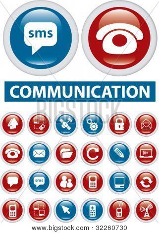 botones de la comunicación. Vector