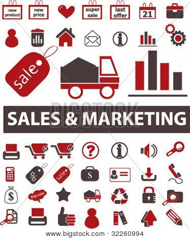 signos de ventas & marketing. Vector
