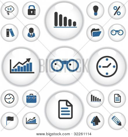 presentation buttons. vector
