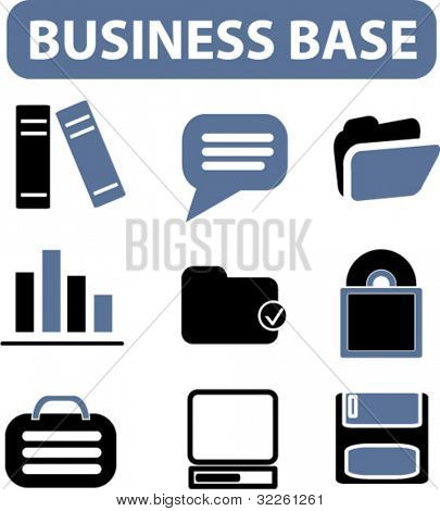 business base signs. vector