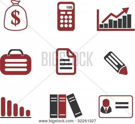 finance signs. vector