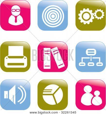 web 2.0 buttons. vector