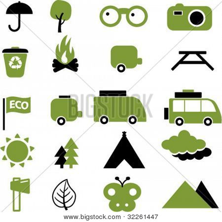 natural travel signs, vector