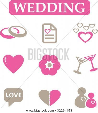 wedding signs, vector