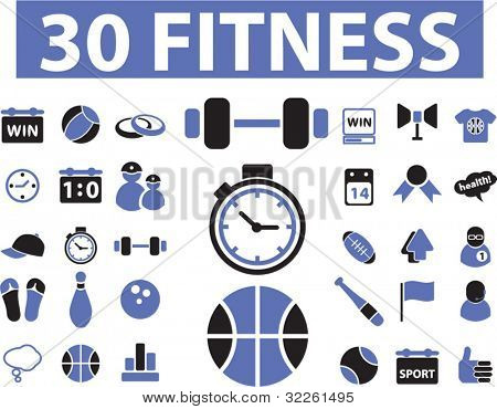 30 iconos de fitness, vector