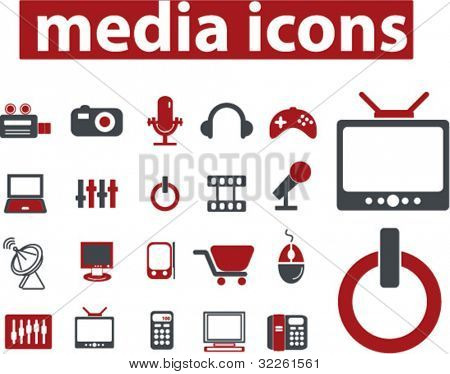 media icons, vector