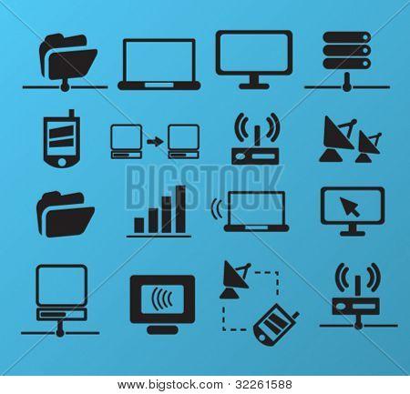 Verbindung & Netz-Ikonen, Vektor