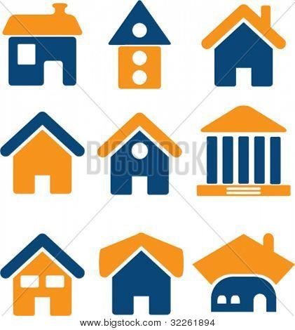 Haus-Icons, Vektor