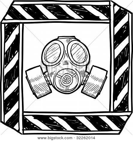 Gas mask warning