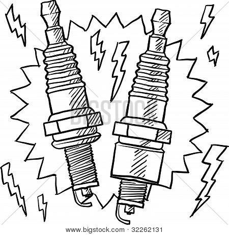 Spark plug sketch