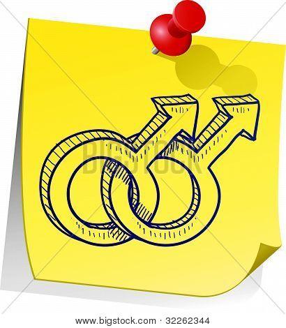 Lesbian relationship symbol