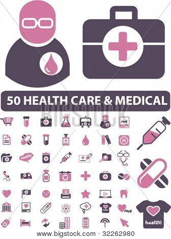 health care & medical icons, signs, vector illustrations