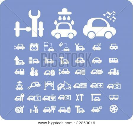 car theme icons, vector