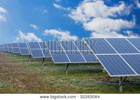 Field With Solar Cells