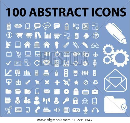 100 iconos abstracta set, vector
