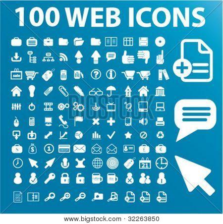 100 iconos de la web, vector