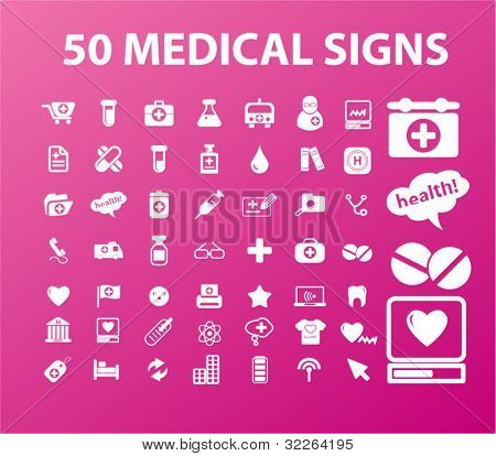 50 medical icons, vector