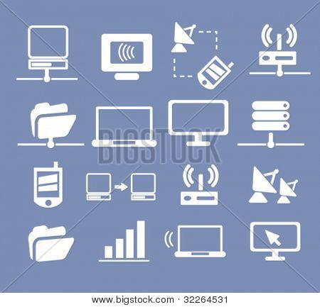 connection icons, signs, illustration, images, vector