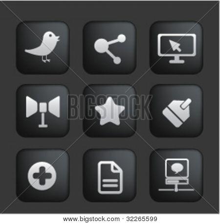 social media buttons, vector