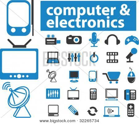 computer icons set, vector illustrations