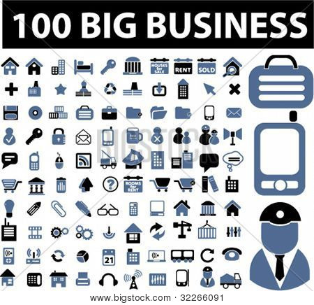1000 business icons set, vector
