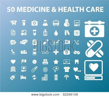 50 medicina & health care vectr set, los iconos