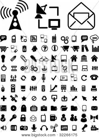 Kommunikation Icons Set, vektor verbandswechsel