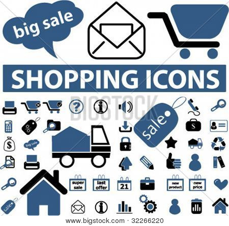 shopping icons set,vector