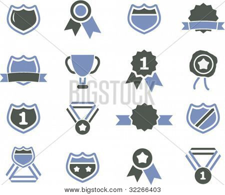 awards & certificate icons set, vector