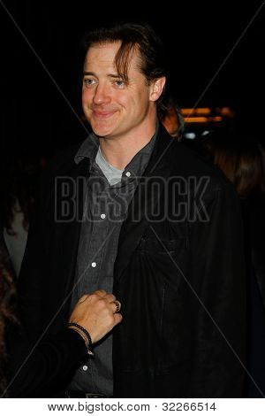 NEW  YORK - APRIL 21: Actor Brendan Fraser attends the premiere of