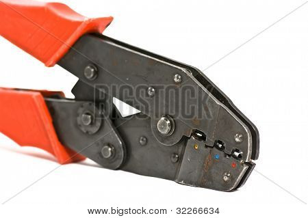 Cable jointer on white background