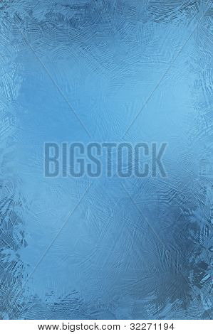 Blue frosty window background