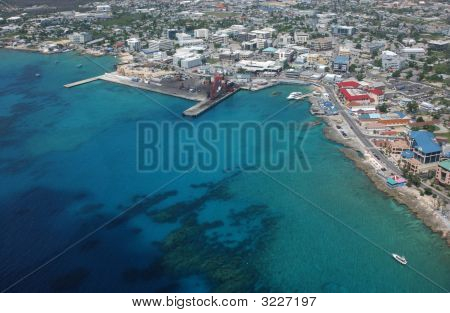 Aerial View Of Grand Cayman Islands