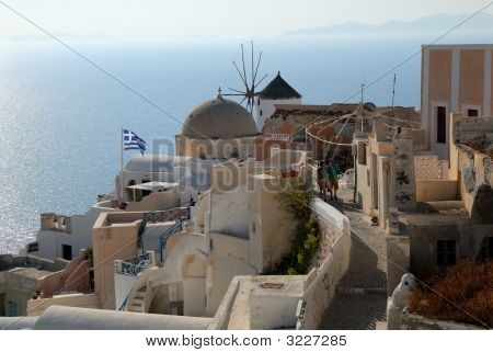 View Over Oia, Greece