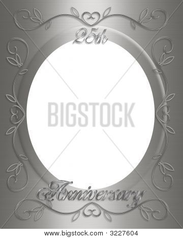 25Th Wedding Anniversary Card Invitation Stock photo