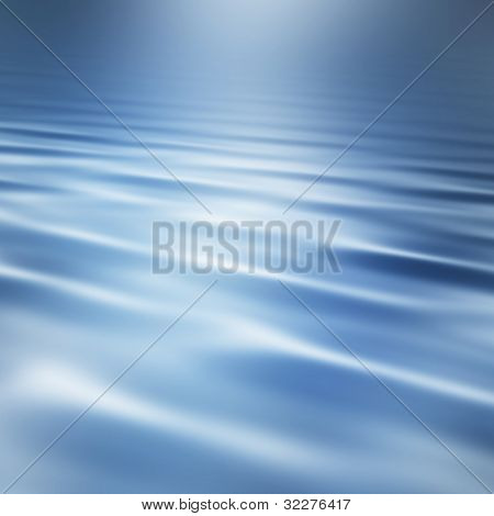 Blue water waves background