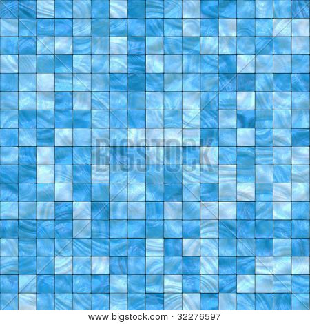 Blue mosaic background