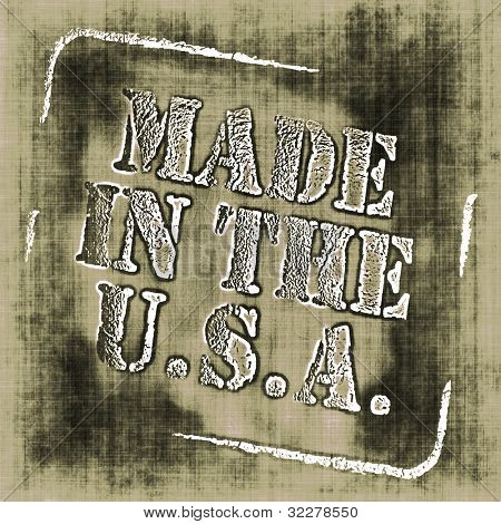 Grungy made in the USA stamp